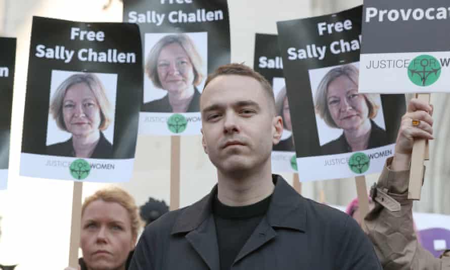 Georgina Challen's son David outside the court in London.