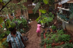 Harriet Nakabaale's urban farm in the Kawaala district of Kampala is popular among locals who want to learn how to grow crops in their urban spaces.