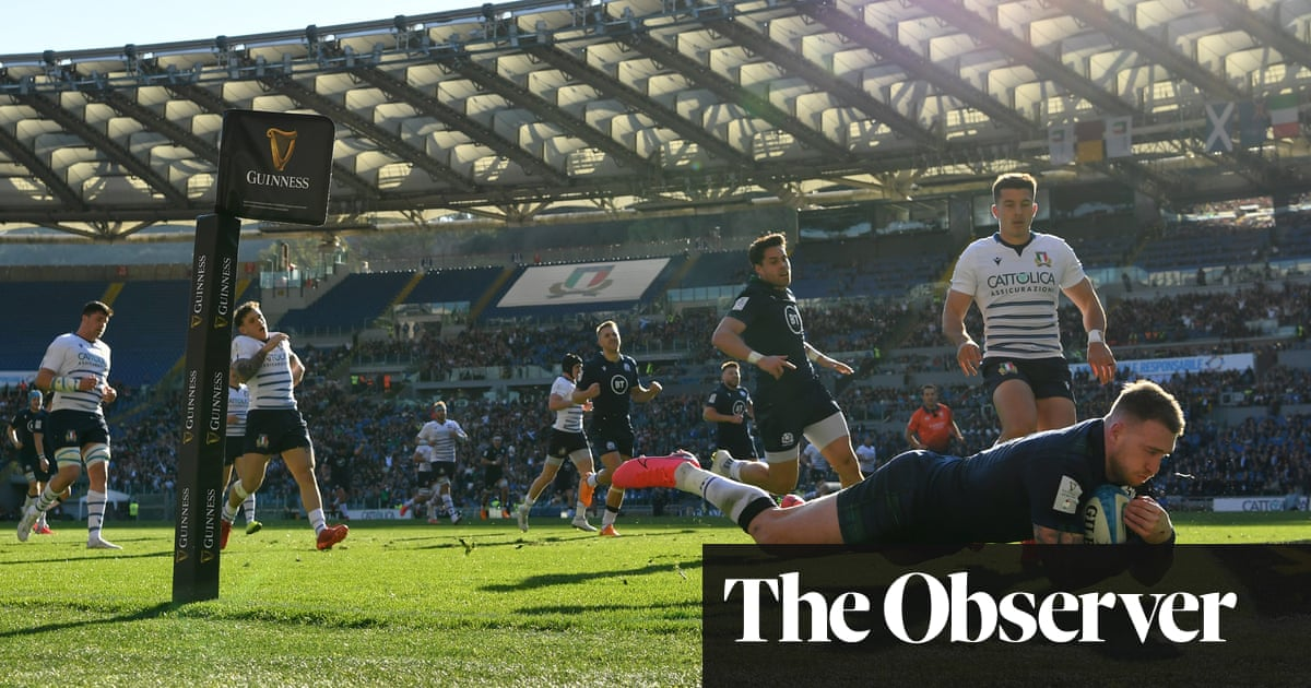 Stuart Hogg's solo effort leads Scotland to hard-fought victory against Italy