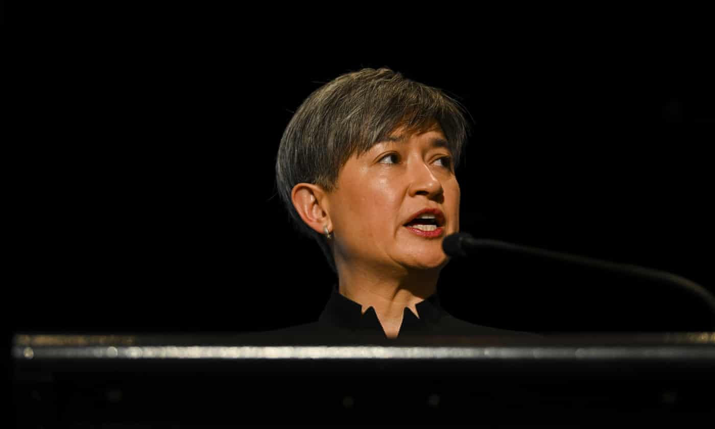 Morrison's 'negative globalism' speech was 'disturbing', Penny Wong says – as it happened