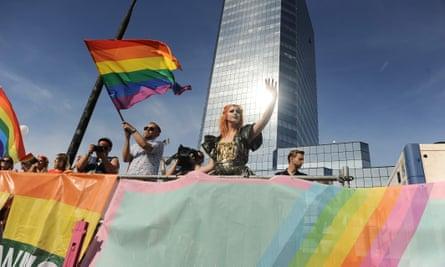 Pride celebration in Warsaw, Poland, this week.