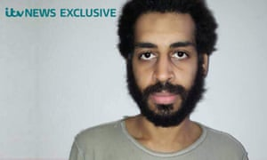 Undated handout photo issued by ITV News of Alexanda Kotey after he was captured in Syria in January while trying to enter Turkey.