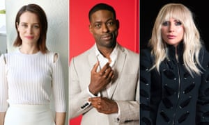 Claire Foy, Sterling K Brown and Lady Gaga.