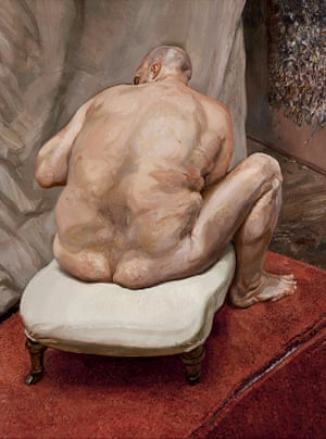 Naked Man, Back View, 1991-92 (oil on canvas)one of Freud's many paintings of Leigh Bowery