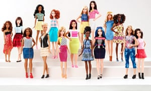 New Barbie body types and colours