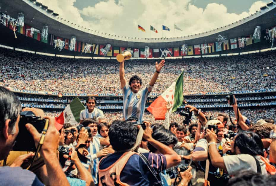 'He looked right into my eyes' … Diego Maradona at the 1986 World Cup in Mexico City.