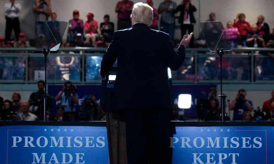 Donald Trump speaks in Great Falls, Montana.
