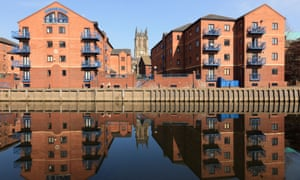 Waterfront apartments on Langtons Wharf in Leeds.