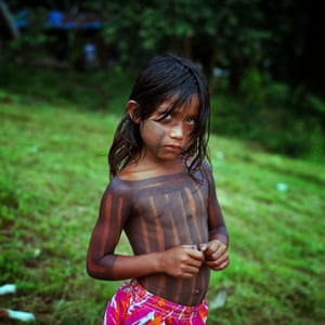 Young girl Xikrin community