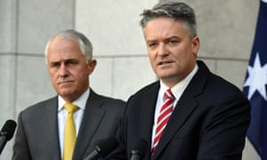 Malcolm Turnbull and Mathias Cormann