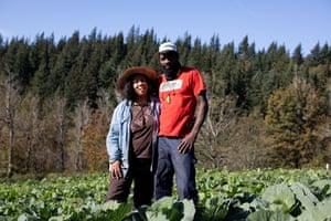 Art Shaver and Shantae Johnson on their farm in Oregon.