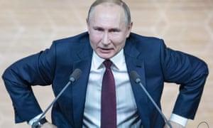 Vladimir Putin, the longest serving leader of Russia since Joseph Stalin.