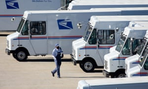 The judge's ruling involves the postal service using express mail to deliver ballots within one to two days.