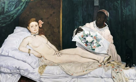 Performance artist Deborah de Robertis was arrested after stripping naked in front of the painting Olympia by Edouard Manet.<br>