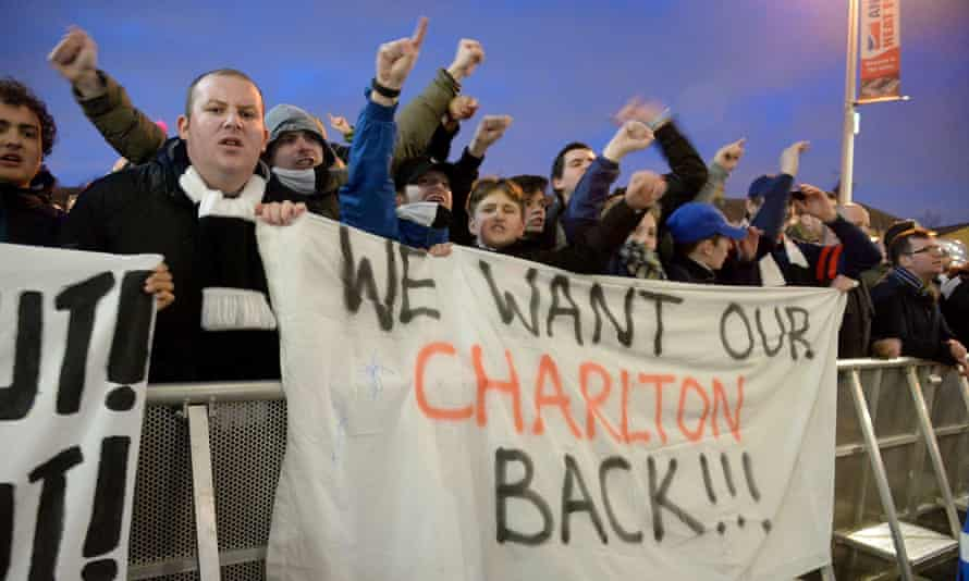 Charlton Athletic supporters protested at how the club is run before, during and after the 1-1 draw with Blackburn.