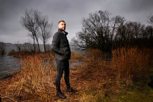 Steven Caulker pictured at Loch Leven in 2018 during his time as a Dundee player