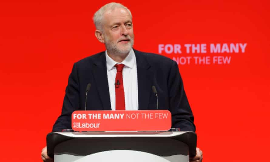 Jeremy Corbyn, Leader of the Labour Party, delivers his speech to the Labour Party conference Labour Party Annual Conference, Brighton
