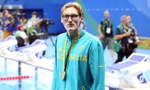 Gold medallist Mack Horton