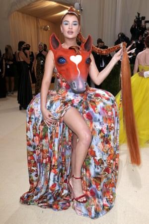 Kim Petras wearing Collina Strada