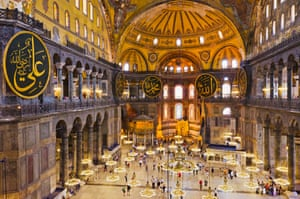The interior of Ayasofya, now a museum.