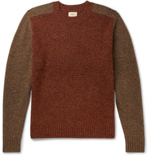 Style with jeans, boots and a puffer coat for a cosy weekend walk look. Two-tone sweater, £95, bellerose.com