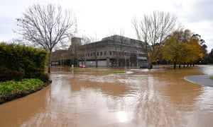 Flood water in Traralgon, Victoria