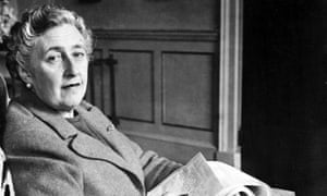 Sitting comfortably ... Agatha Christie, pictured at home in Devon in 1946.