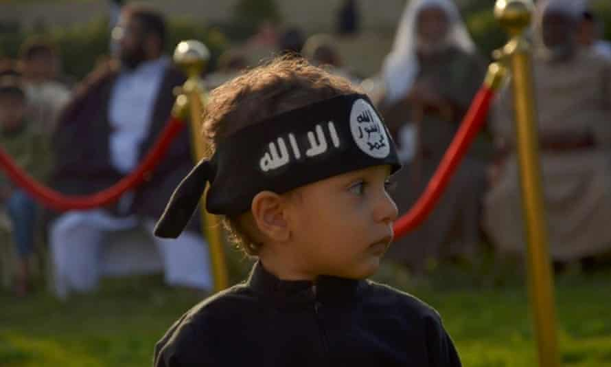 An image from Twitter purporting to show an Isis 'child radicalisation program' in Sirte, Libya.