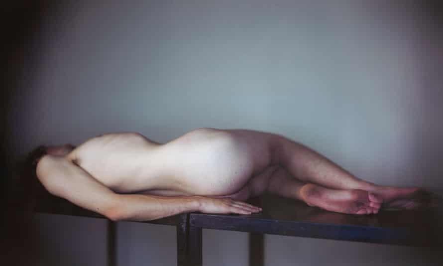 Horizontal Male Nude (detail).