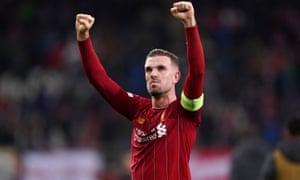 Liverpool's captain Jordan Henderson