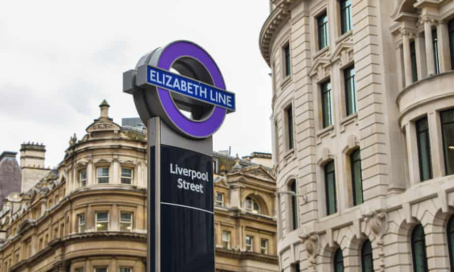 The Elizabeth line at Liverpool Street