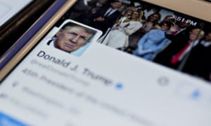 The Twitter account of Donald Trump.