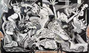 Wood's take on Picasso's Guernica, Destruction of a Civilised Riff.