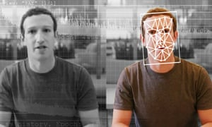 A comparison of an original and deepfake video of Facebook chief executive Mark Zuckerberg.