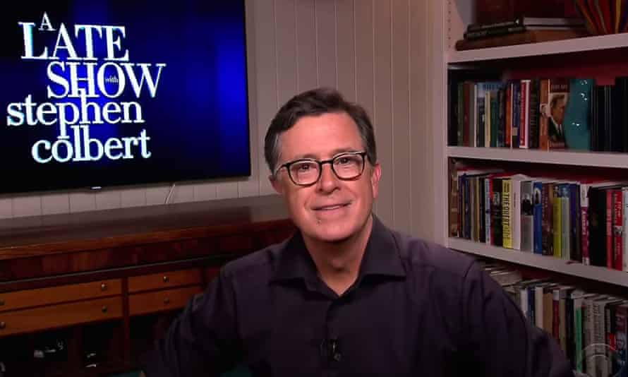 """Stephen Colbert on Trump's temporary immigration ban: """"It's just Trump using the virus as an excuse to do what he's always wanted to do anyway. It's like if your house catches fire and you say, 'Honey, it's not safe in there - I'm going to go buy a set of golf clubs.'"""""""