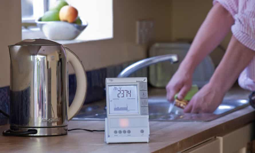 A smart meter in use in a kitchen