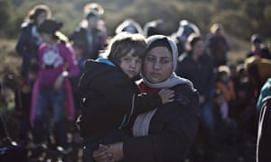 Refugees on Lesbos