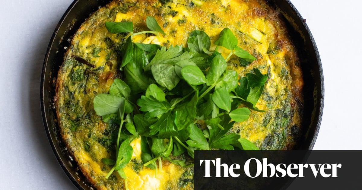 Nigel Slater's recipe for baked herb and feta omelette