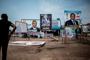 Campaign posters in the district of Lingwala
