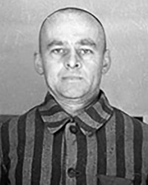 Witold Pilecki photographed in Auschwitz.
