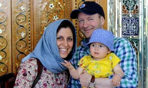 Nazanin Zaghari-Ratcliffe with her husband, Richard, and daughter Gabriella.