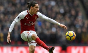 Arsenal's Héctor Bellerín certainly has the hair to be a Real Madrid player.