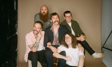 Idles, photographed at Shoreditch Studios, east London, August 2020.
