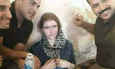 The girl arrested by Iraqi forces, who it is believed could be missing Linda Wenzel.