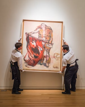 Mit Roter Fahne (With Red Flag), 1965 by Georg Baselitz.