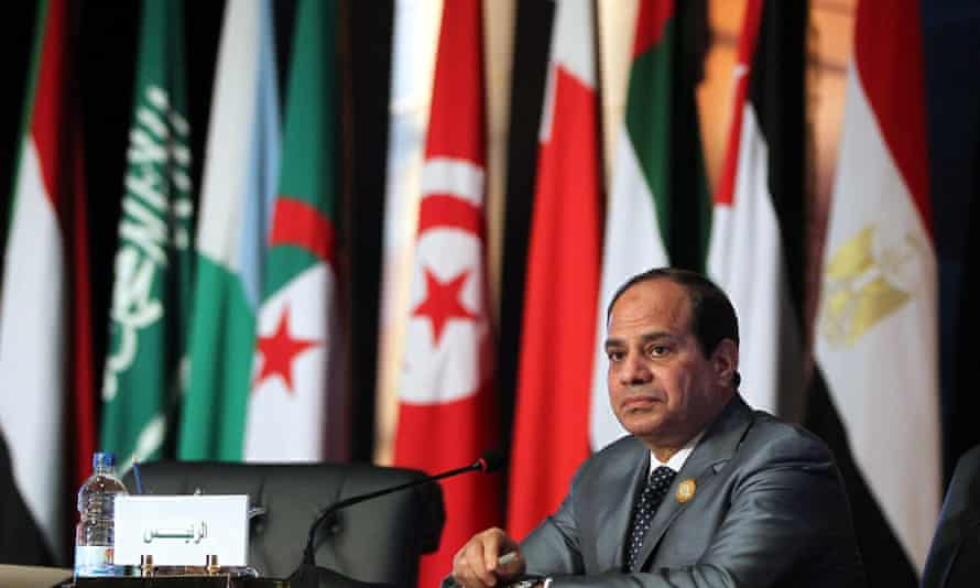 The Egyptian president, Abdel Fatah al-Sisi, announced the plans for a joint military force on the last day of the summit.