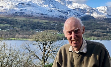 Tim Baynes on a visit to Coniston Water near his home, in the Lake District