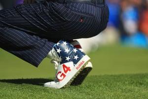 Bubba Watson's patriotic shoes.