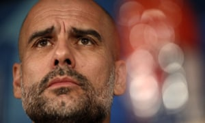 Pep Guardiola addresses the media at the Bernabeu on Tuesday
