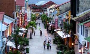 Ji India, a popular street in Kuching, Sarawak, Borneo